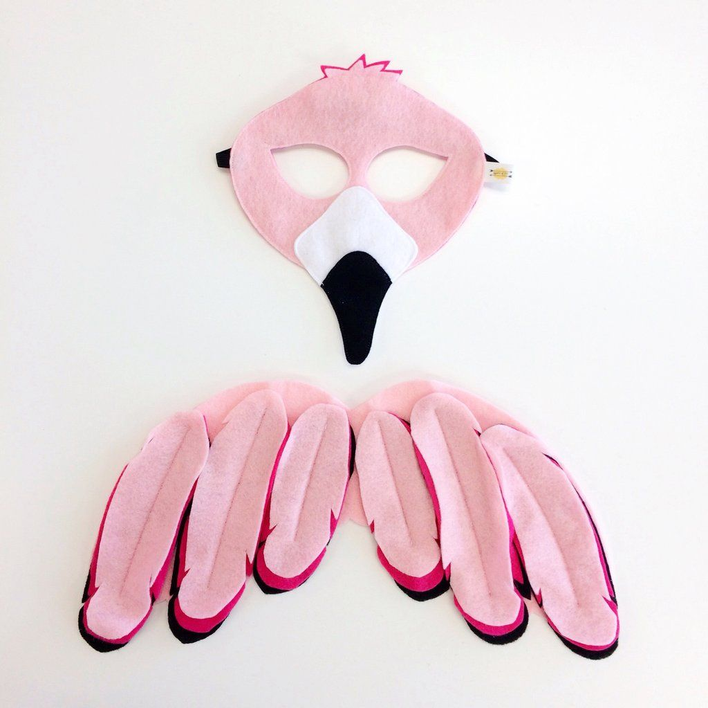 Flamingo Kids Costume // Opposite of Far and The Wishing Elephant Wing and Masku2026 & Flamingo Kids Costume // Opposite of Far and The Wishing Elephant ...