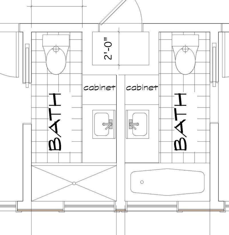 Kids bathroom plan Bathroom layout, Bathroom layout