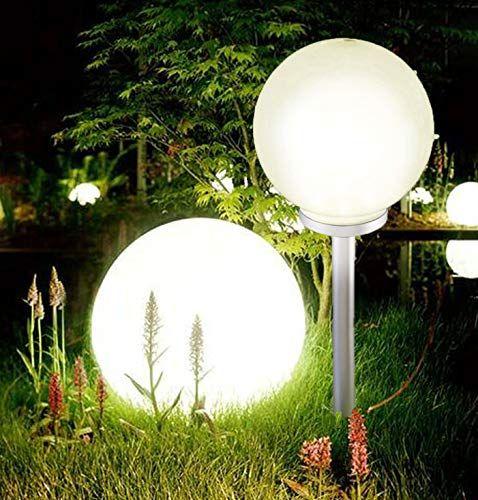 Boule D Ambiance Geante A Led Solaire Pour Jardin Blanc Chaud 25 Cm Diameter Globe Jardin Lampe Solaire Jardin Lanterne Solaire