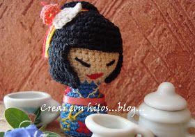 Free Amigurumi Kokeshi Doll Patterns : Bigú handmade kokeshi amigurumi crochet