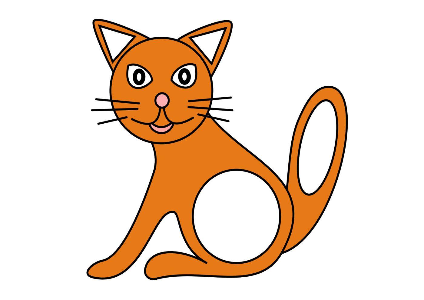 Дидактическая игра «Кошка», кошка из геометрических фигур ...