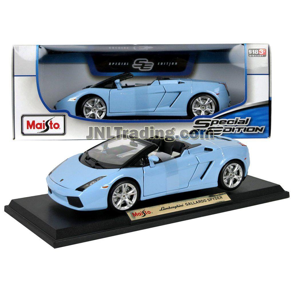 Maisto Special Edition Series 1 18 Scale Die Cast Car Blue Sports Convertible Coupe Lamborghini Gallardo Spyder W Lamborghini Gallardo Big Trucks Car Model
