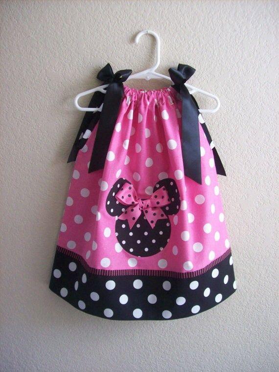minnie mouse pillow case dress--Brenna needs this & Minnie dulcero vestido   Mickey Mouse fiesta   Pinterest   Sewing ... pillowsntoast.com
