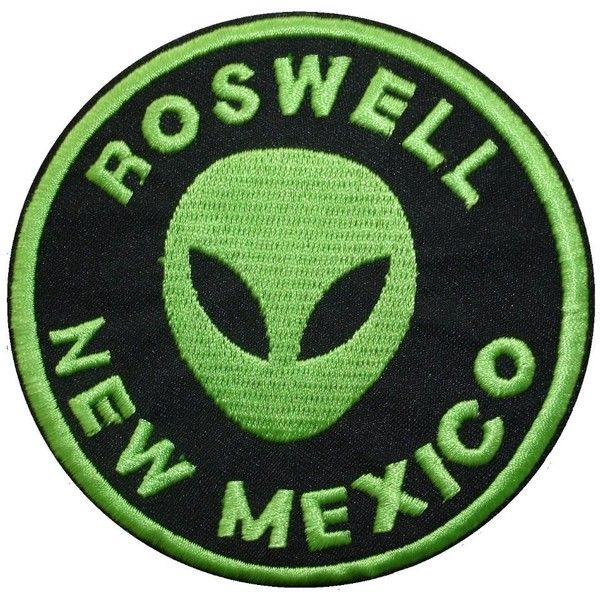 2 pieces ROSWELL NEW MEXICO Iron On Patch Fabric Applique Motif Alien... (€4,57) ❤ liked on Polyvore featuring fillers, patches, accessories, decals and other
