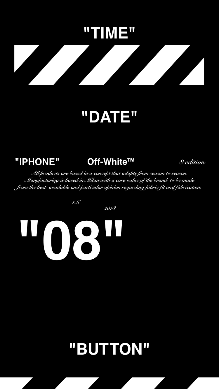 "Off-White™""IPHONE"" ""8"" ""WALLPAPER"" ""壁紙"" ""OFFWHITE"" 18/4/10-11 