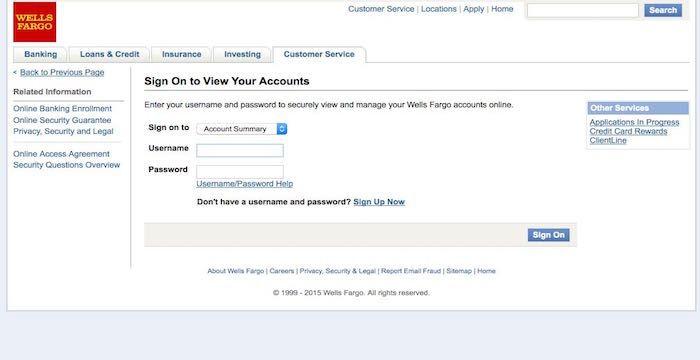 Wells Fargo Home Page Login Wellsfargo Com Online Signs Wells