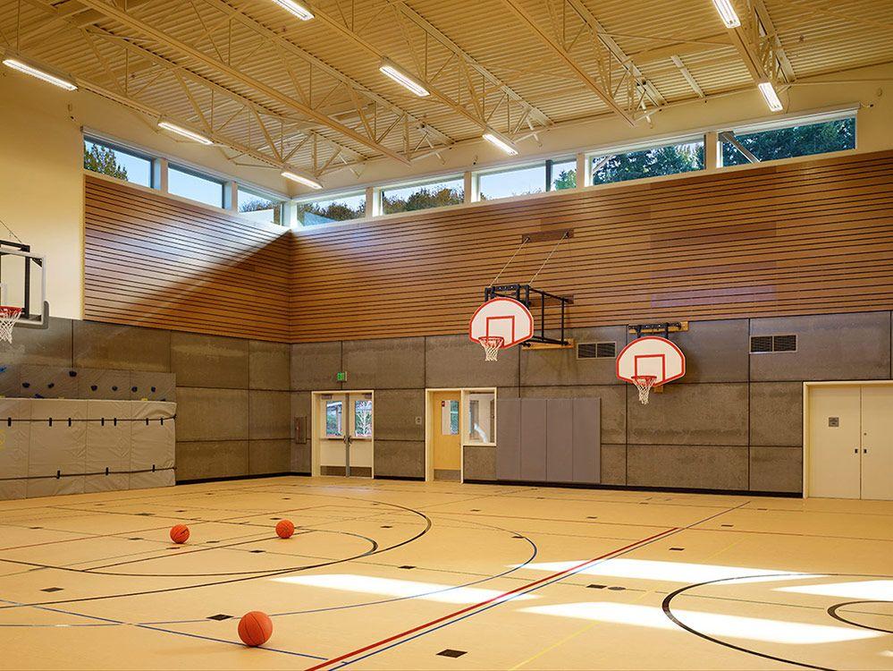 Eastgate Elementary School Bellevue School District Nac Architecture Architects In Seatt Elementary Schools Gym Architecture Elementary School Architecture
