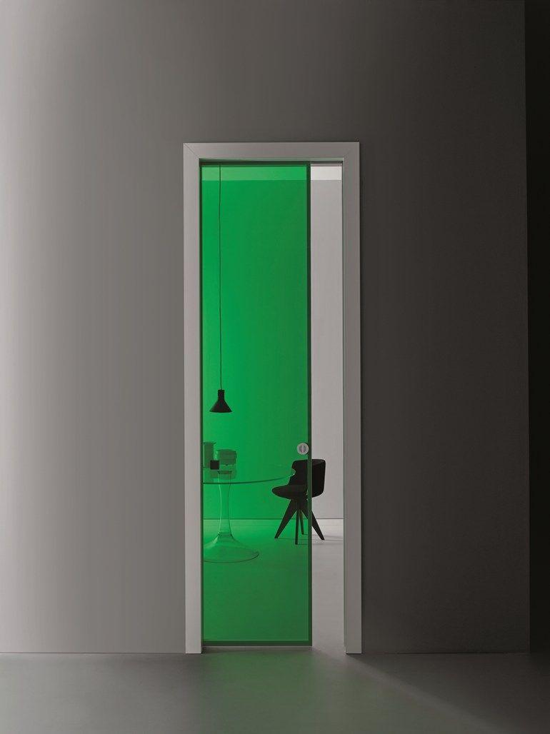 Glass Pocket Sliding Door Aladin Frame Mono By Glas Italia