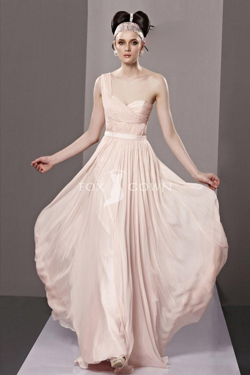 Ivory full length chiffon prom dress with sash - Absolutely adore ...