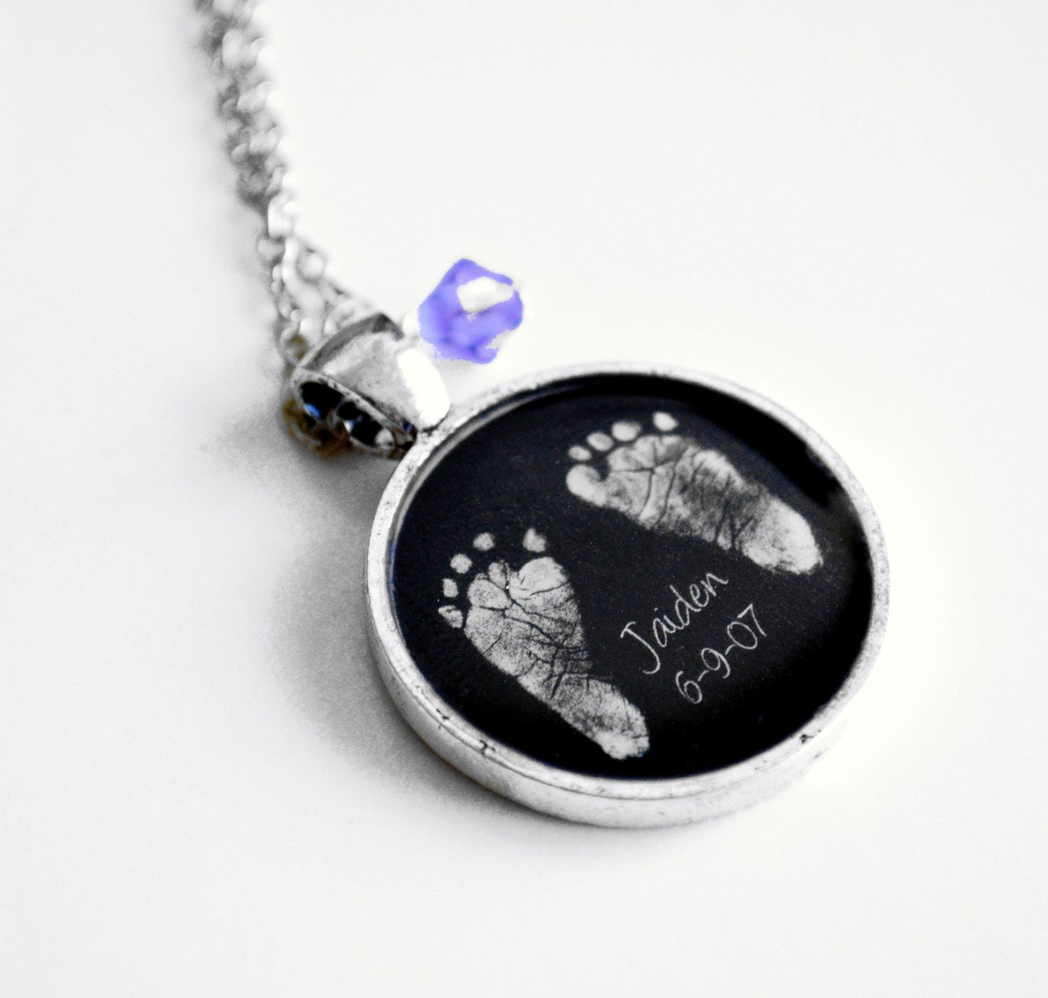 tm silver pet keepsake prints print product two heart puffed paws necklace paw cremation pendant sterling