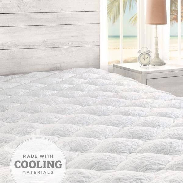 Cooling Mattress Pad With Fitted Skirt Cooling Mattress Pad
