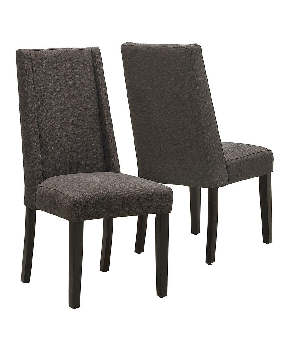 Look at this zulilyfind! Dark Brown Linen Dining Chair
