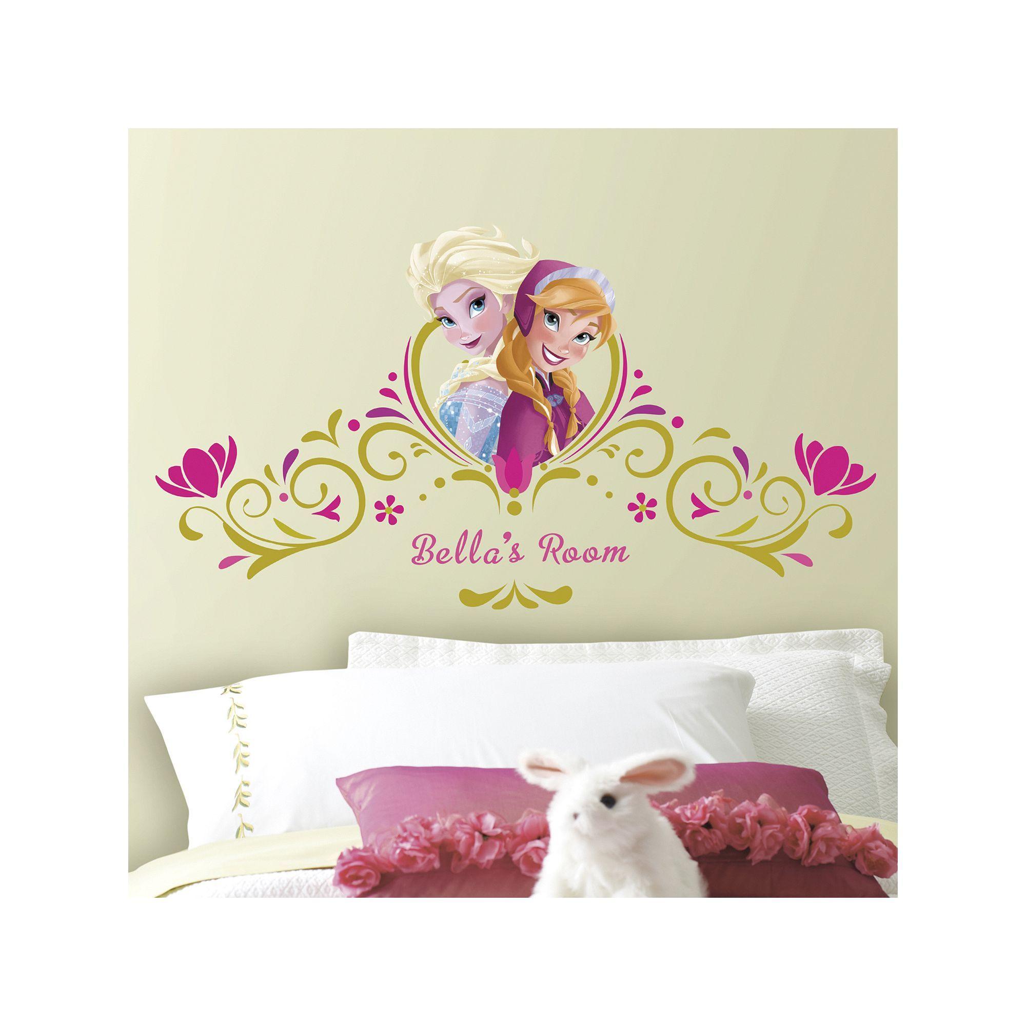 Frozen Theme Alphabet Wall Decal Stickers Peel /& Stick Kids Girls Bedroom Decors