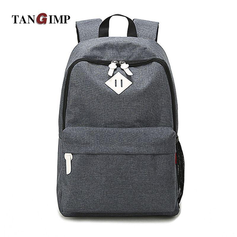 0de69df83b TANGIMP Luggage Bags Women Men Canvas Backpacks Schoolbags for Girls Boys  Teenagers Casual Travel Laptop Bags Rucksack
