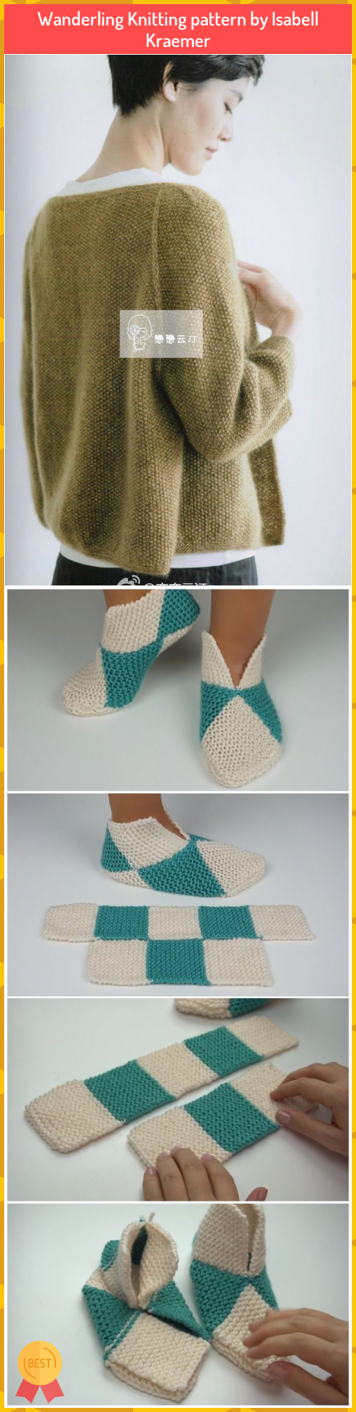 Wanderling Knitting pattern by Isabell Kraemer #Wanderling #Knitting #pattern #Isabell #Kraemer