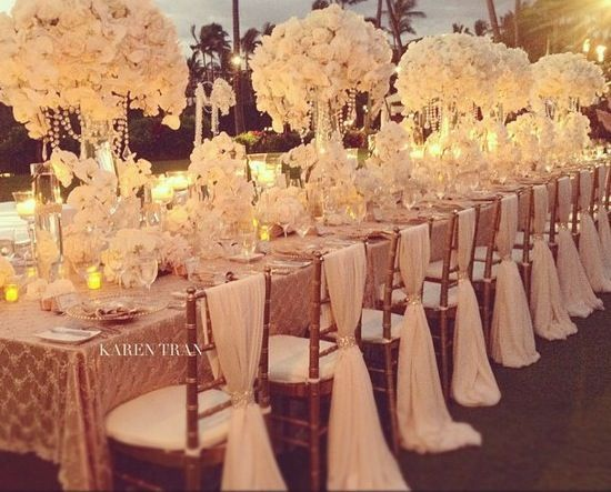 Blush reception tablescape blush wedding reception wedding white table setting love the tall flower center pieces i can do without the tall flower centerpieces junglespirit Image collections