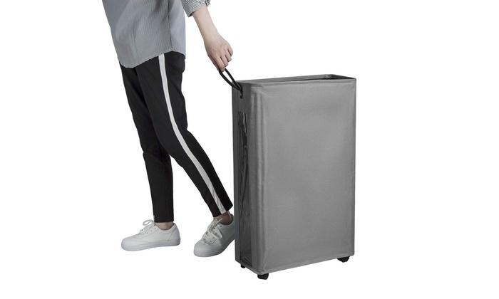 27 Slim Laundry Hamper Large Tall Laundry Basket On Wheels Clear