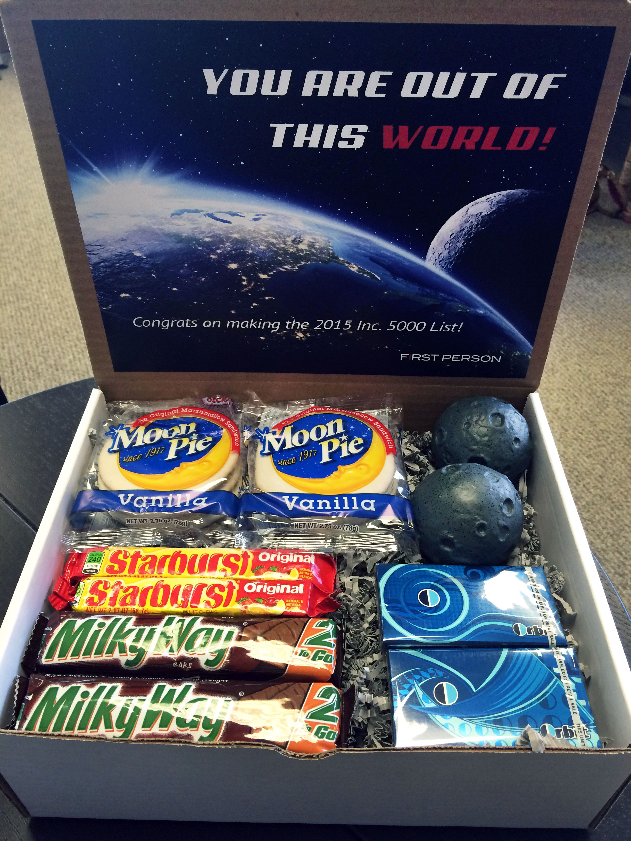 You 39 re out of this world box this outer space themed box for Outer space gifts