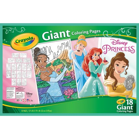 Crayola Disney Princess Coloring Pages Giant Coloring Pages 18 Count Walmart Com Disney Princess Colors Princess Coloring Pages Disney Princess Coloring Pages