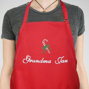Personalized Christmas Candy Cane Apron