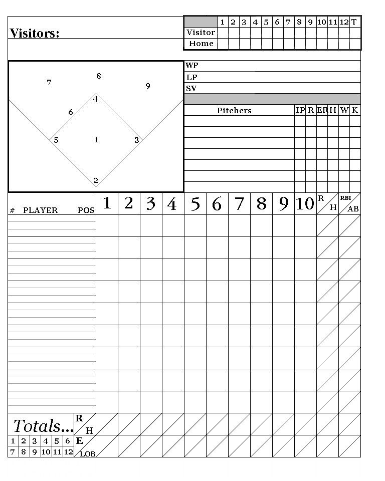 printable baseball score sheets