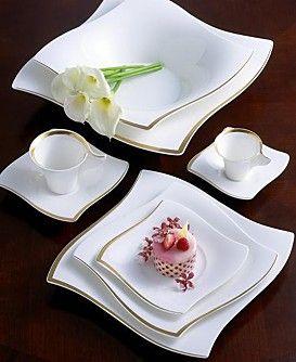 Villeroy Boch New Wave Premium Gold Dinnerware Collection Gold Dinnerware Dinnerware Villeroy Boch