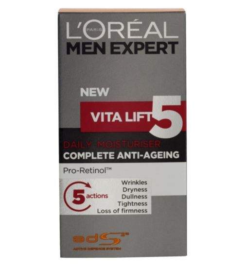 L Oreal Men Expert Vita Lift 5 Complete Anti Ageing Moisturiser 50ml Anti Ageing Moisturiser Anti Aging Anti Aging Cream