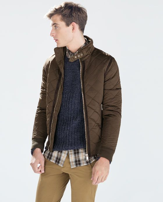 Zara Man Quilted Jacket Style In 2019 Quilted