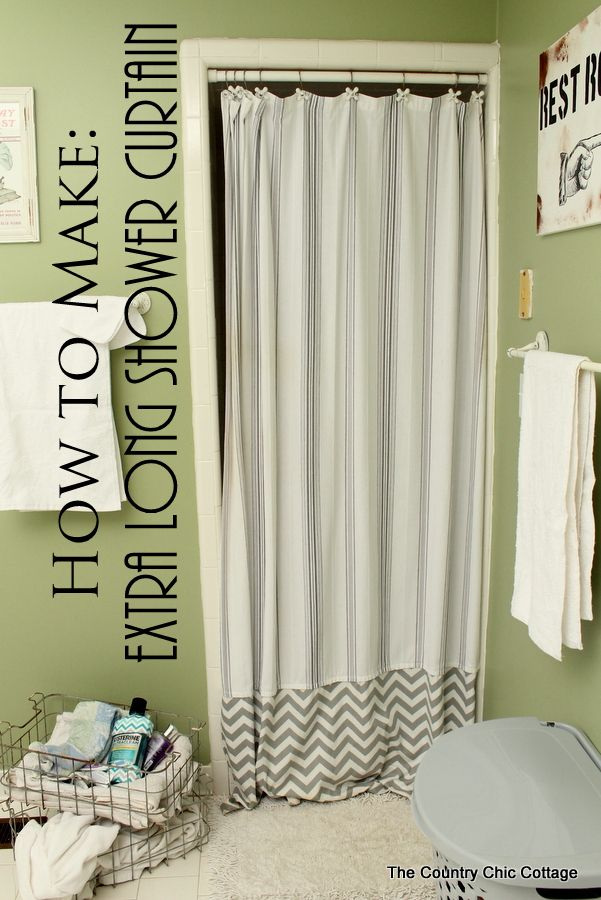 Make An Extra Long Shower Curtain Long Shower Curtains Extra