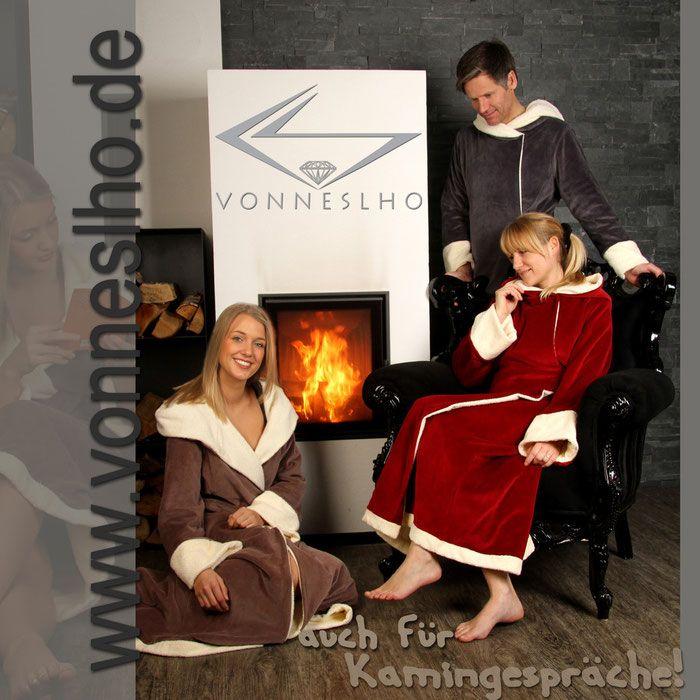 warmer langer Saunamantel extralanger Bademantel mit Kapuze luxus ...
