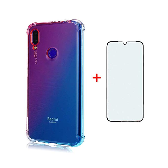 Amazon Com Phone Case For Xiaomi Redmi Note 7 7s 7pro With Tempered Glass Screen Protector Cover And Cell Accessories S Cell Accessories Chic Phone Case Phone