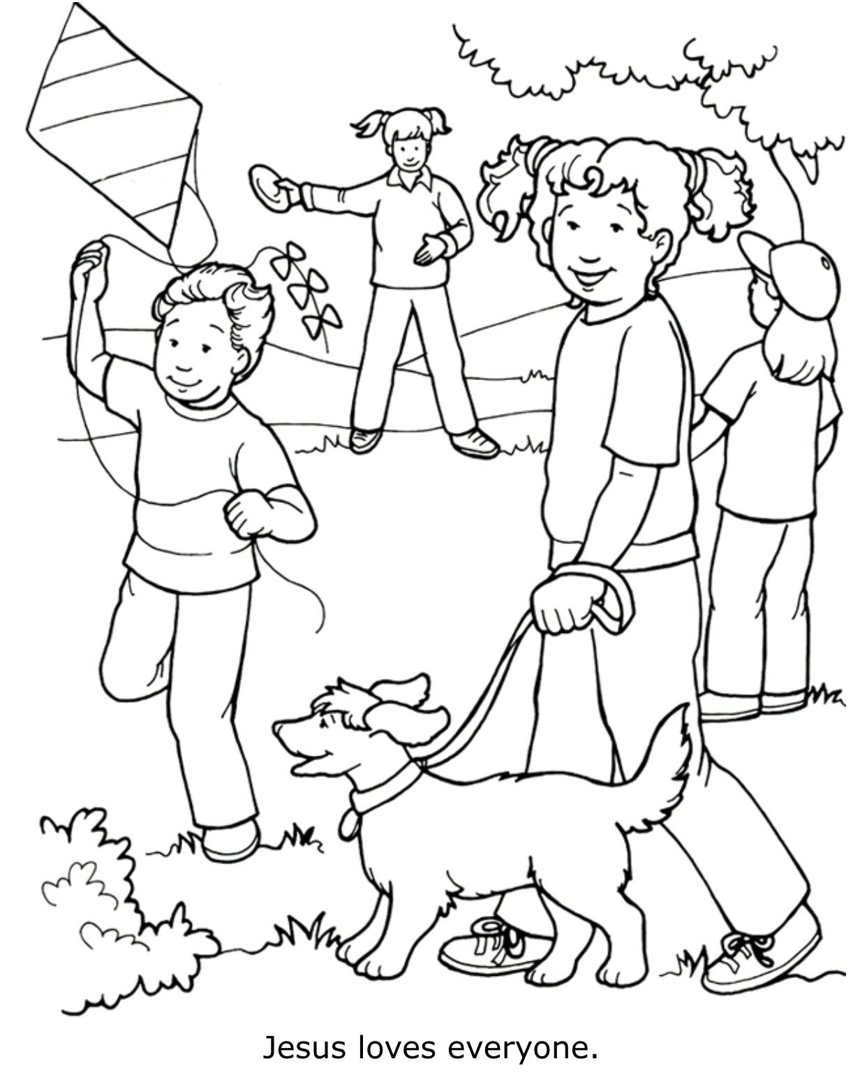 Jesus Loves Everyone Coloring Page Sunday School Coloring Pages