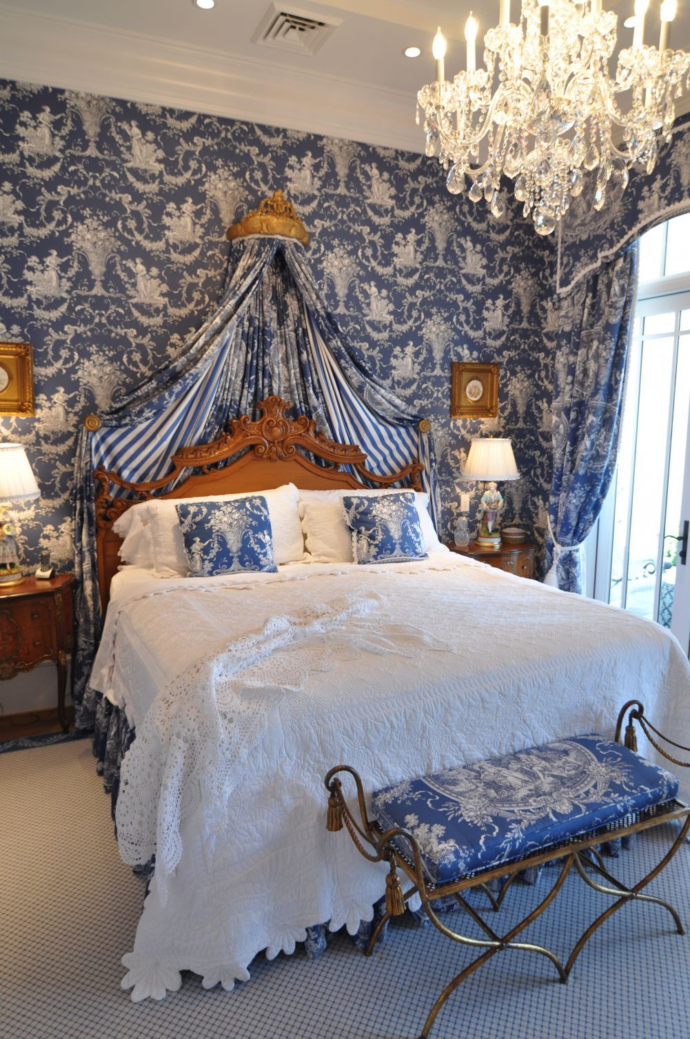 Blue and white toile bedding - 17 Best Images About We Love Toile On Pinterest Blue And White Toile And Night Stands