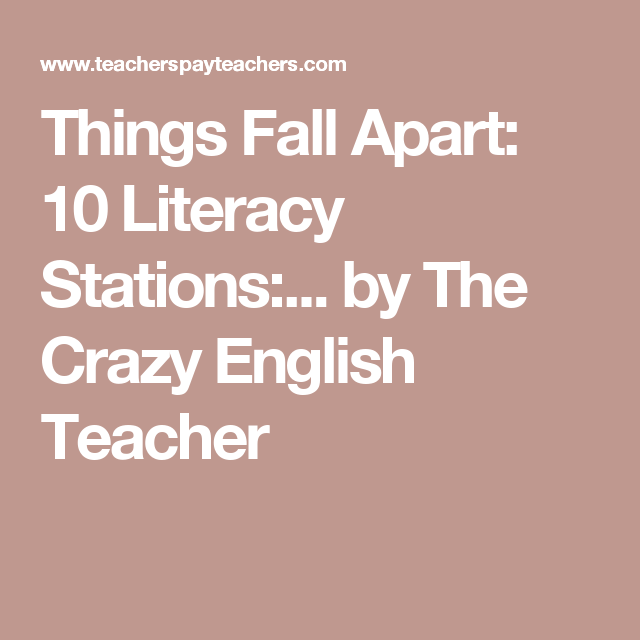 Pin On Things Fall Apart Lesson Plans Student