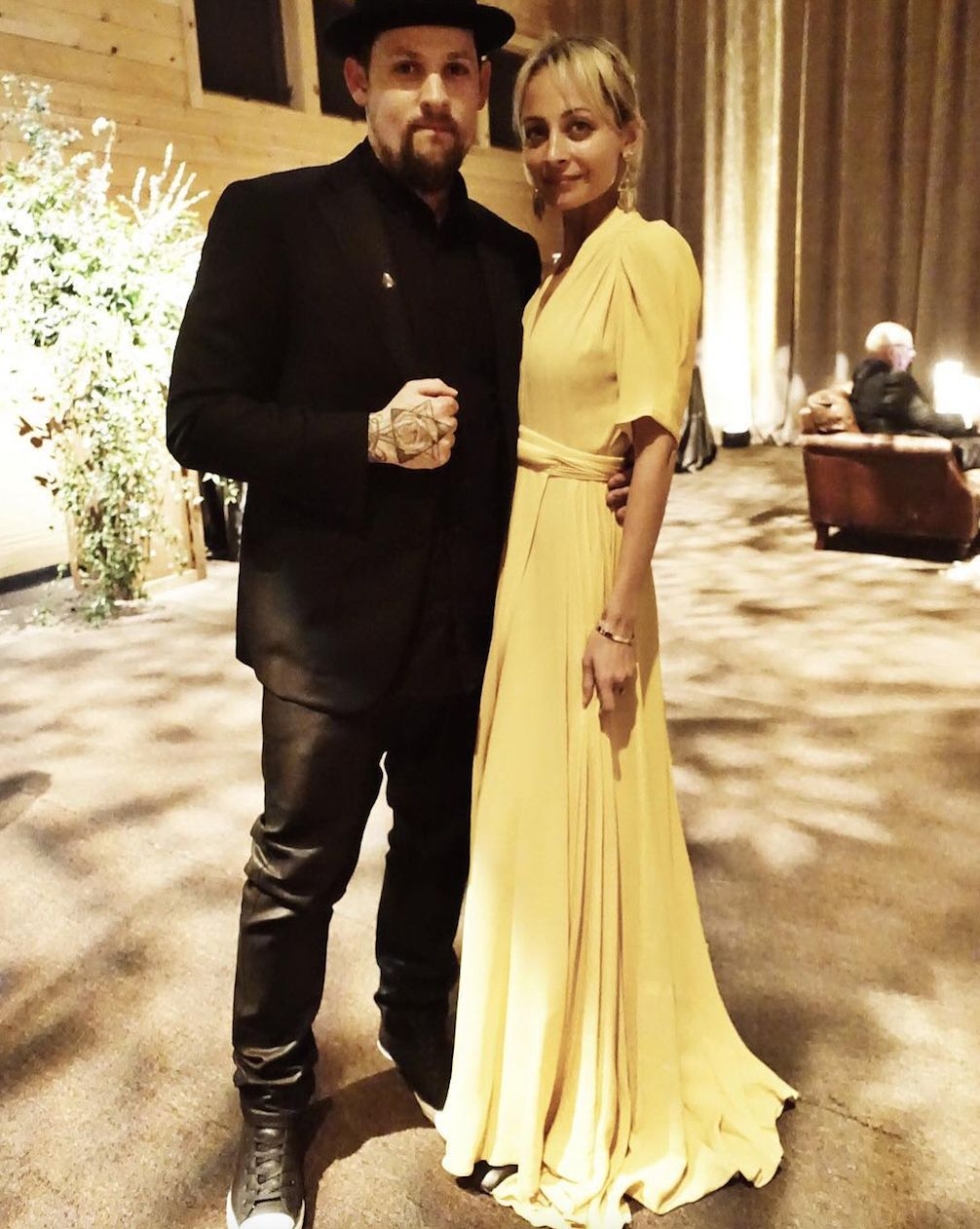 Love that dress- Joel Madden and Nicole Richie Turn a Friend's Wedding Into an Adorable Date Night from InStyle.com