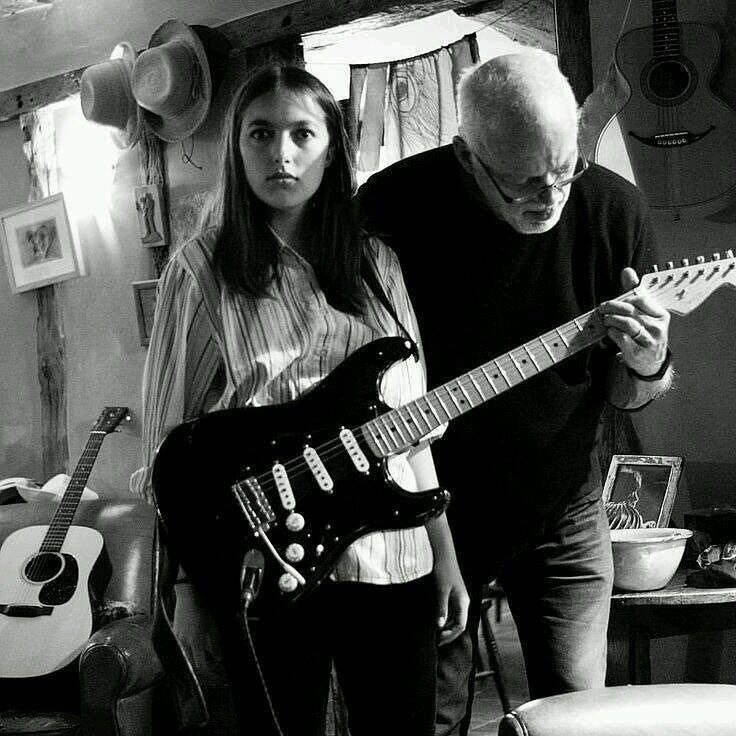 PINK FLOYD HQ — David Gilmour and his daughter Romany. | David gilmour pink  floyd, Pink floyd, David gilmour