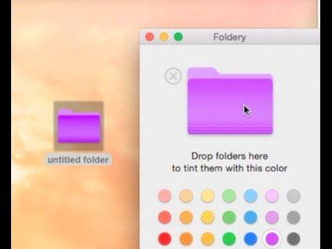 How To Change The Folder Color In Mac Macos Sierra Yosemite Mavericks Folders Color Colour Tint