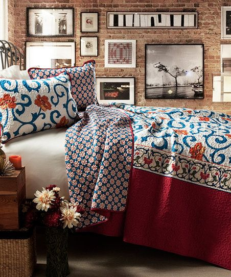 With a bold pattern, textured design and soft fabric, this quilt and matching shams set is your ticket to cozy and convenient coordination.