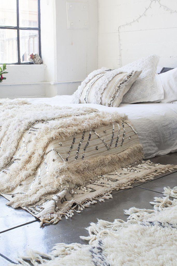 Wedding Blanket Handira Azilal Rug Moroccan Morocco Wool