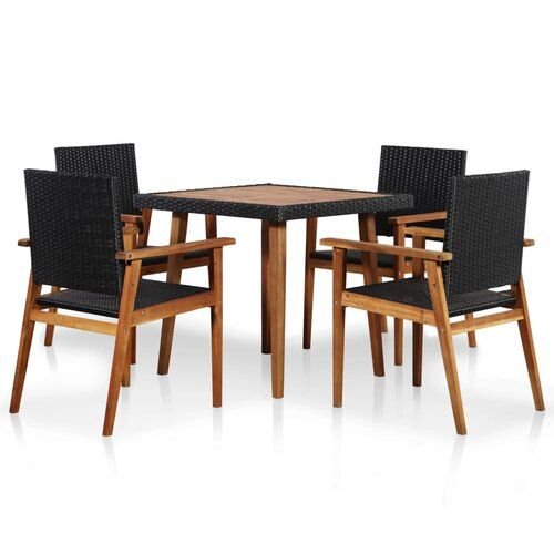 Sol 72 Outdoor Batson 4 Seater Dining Set Outdoor Furniture Sets Rattan Outdoor Furniture 10 Seater Dining Table