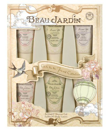 This Beau Jardin Travel Set includes 3 Body Lotions and 3 Shower ...