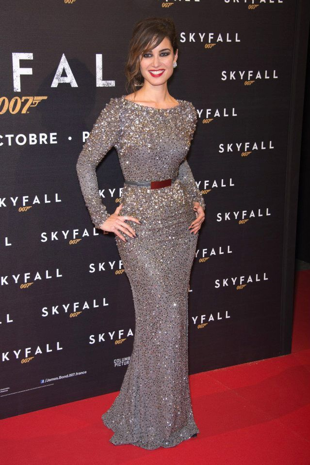 "Berenice Marlohe wears ELIE SAAB Fall 2012-13 to the Paris Premiere of ""Skyfall""."