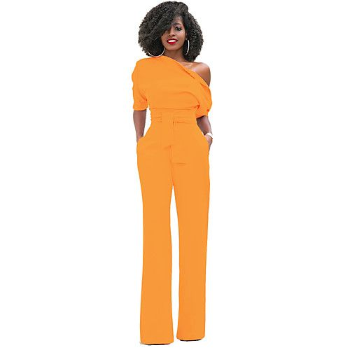 5457d4c1300f Women s Holiday Sophisticated Cotton Jumpsuit - Solid Colored