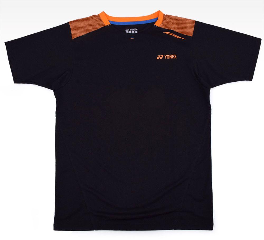 Yonex Men S Badminton T Shirts Lee Chong Wei Limited Edition Black 16003lcwex Yonex Badminton T Shirts Badminton Outfits Yonex