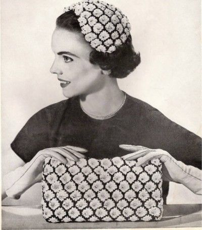 Vintage Crochet Hat and Bag Set