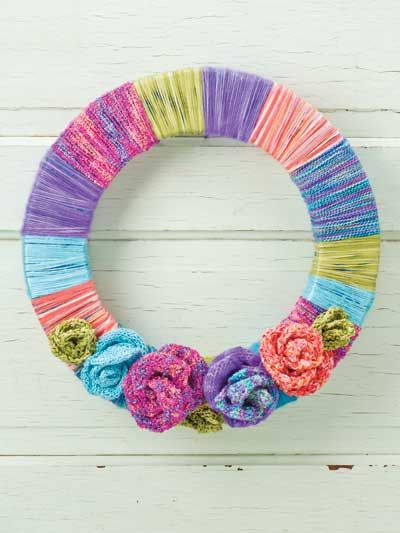 Quick Color Wheel Wreath Pattern From Quick Knit Flower Frenzy