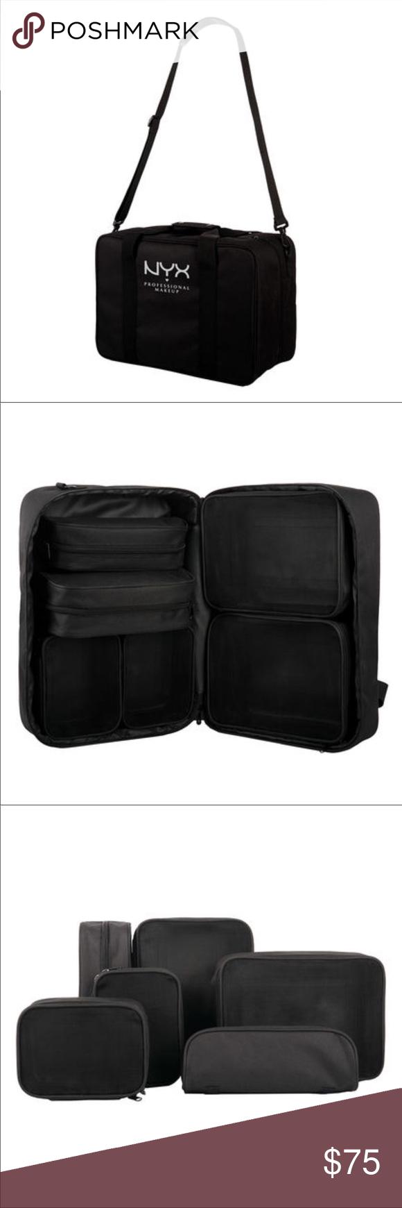 Black NYX Large Carry On Organizer Makeup Case Bag NWT