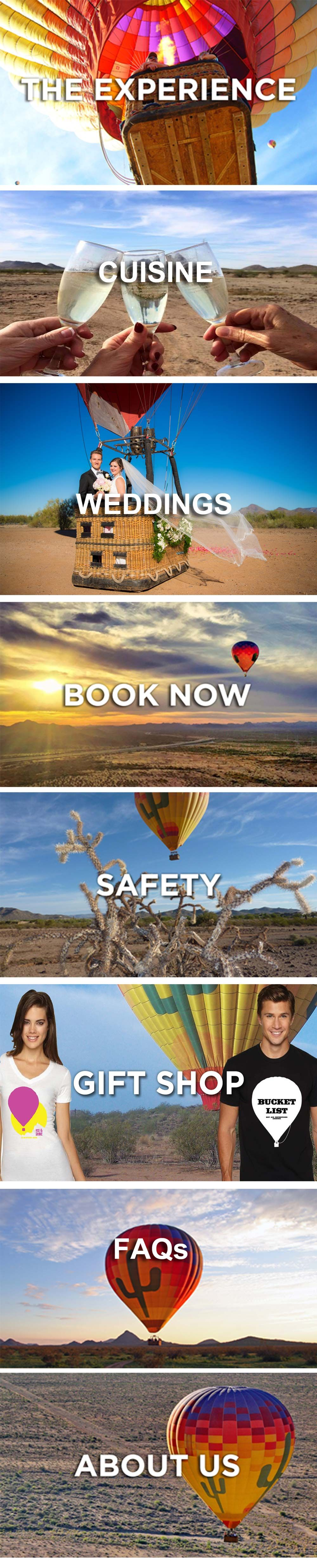 Phoenix Hot Air Balloon rides and excursions by Hot Air