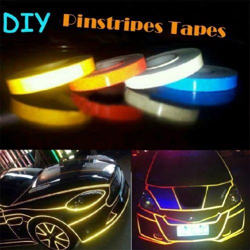 Various sizes Waterproof Reflective PinStripe Vinyl 3M Decal Tape Stickers BLUE