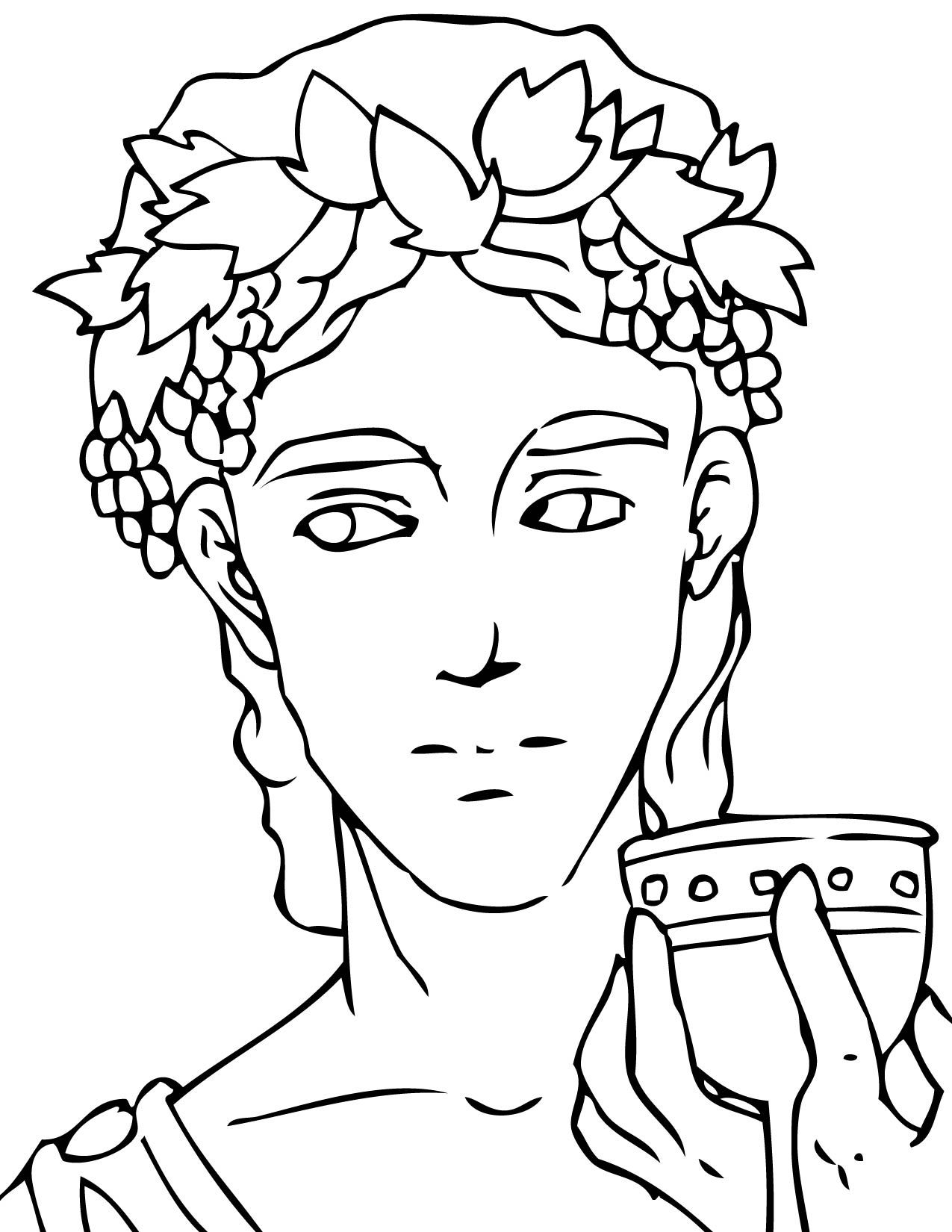 Dionysus Coloring Page Jpg 1275 1650 Greek Gods And Goddesses